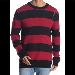 Zadig & Voltaire Bensti Striped Wool Sweater XL
